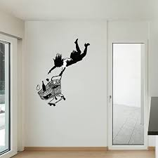 Amazon Com Style Apply Fall Shopping Cart Banksy Wall Decal Wall Sticker Vinyl Wall Art Wall Applique Home Decor Mural B1021 39in X 49in Sage Home Kitchen