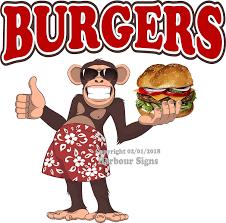 Amazon Com Harbour Signs Burgers Hamburgers Concession Restaurant Food Truck Exterior Vinyl Decal 7 X7 Home Kitchen