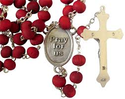 Amazon.com: Our Lady of Perpetual Help Perpetuo Socorro Rose Scented Rosary  Free Prayer Card Blessed by Pope Francis: Jewelry