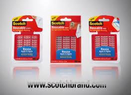 scotch reusable adhesive tabs 1 x 1