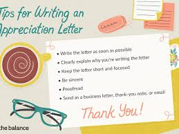 appreciation letter exles and