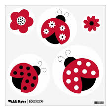 Trendy Red Ladybug Circle Wall Stickers Decals Zazzle Com