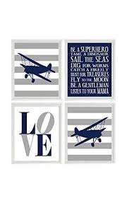 Amazon Com Airplane Nursery Art Boy Room Wall Art Plane Prints Boy Rules Art Love Print Flying Art Airplane Prints Biplane Wall Art Toddler Room Decor Nursery Decor Handmade