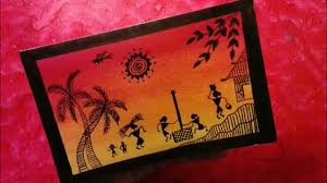 draw warli art very easy without paints