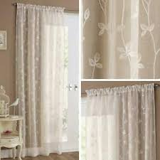 cream voile curtain panels fl linen