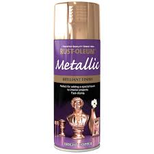 Rust Oleum Bright Copper Metallic Spray Paint 400ml Homebase