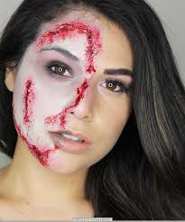 half zombie makeup tutorial