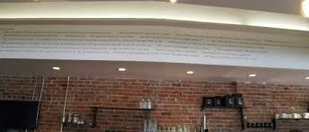 great quotes up high behind the coffee bar picture of thump