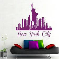 Ny Wall Decals New York City Stickers Skyline Pattern Statue Of Liberty Home Interior Design Mural Wall Stickers New York City Wall Stickers Vinyl Wall Decals