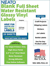 5 Full Sheets Sticker Paper Gloss White Stickers Inkjet Printer Paper 8 5 X 11 Computers Tablets Networking Printer Photo Paper
