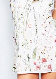 Iva White Overlay Floral Embroidered Shift Dress | Embroidered ...