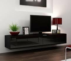 seattle 23 black modern tv wall unit