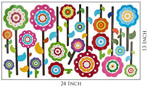 Garden Flower Decor Peel And Stick Kids Wall Decal For Nursery Decoration Girls Room Baby Playroom Baby B01dmsb5aa