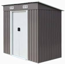 outdoor steel metal garden storage shed