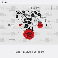 Large Flower Roses Wall Stickers Wall Decals Wall Graphics Vines Leafs Rose Ebay Wall Stickers Bedroom Wall Stickers Wall Graphics