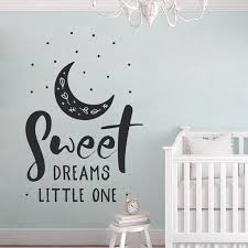 Sweet Dreams Little One Saying Nursery Decor Cute Baby Shower Gifts Wall Aer Vinyl Stickers Sweet Dreams Sign Bo22 Wall Stickers Aliexpress