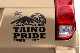 Taino Pride Car Decal Bohio Palm Trees Moon Boriken Puerto Rico Cuba Haiti Dominican Republic Jamaica And Florida By Taino Rising Taino Rising