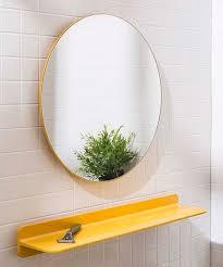honey can do yellow round mirror best
