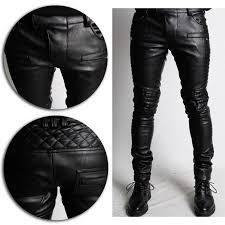 mens fashion designer black faux