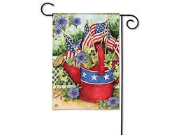 watering can decorative garden flag