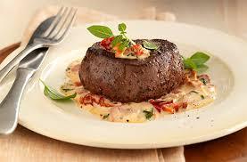 roasted bison filet mignon with tomato