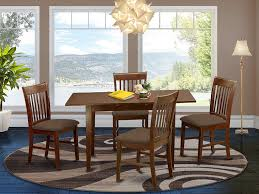 Amazon Com 5 Pc Kitchen Nook Dining Set Table With A 12in Leaf And 4 Dining Chairs Table Chair Sets