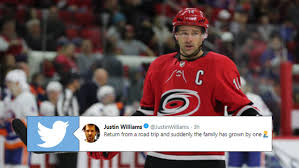 Justin Williams returned home from a road trip to the greatest ...