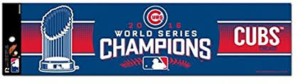 Amazon Com Mlb Chicago Cubs World Series Champion Bumper Sticker Sports Outdoors