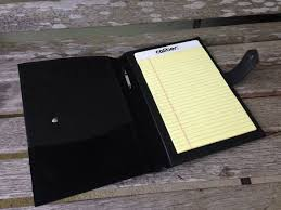 small leather folder for 5 x 8 notepad