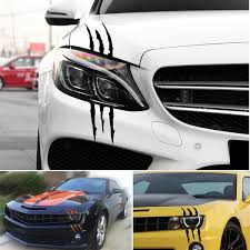 Car Headlight Scratch Stripe Decal Sticker Claw Stripe Slash Truck Vinyl Car Stickers Wish