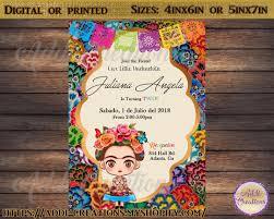 Frida Kahlo Birthday Invitations Customized Item Frida Kahlo