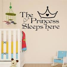 Wall Art Princess Sleeps Here Wall Decals Home Decor Wall Art Quote Bedroom Wallpaper Wall Sticker Buy At A Low Prices On Joom E Commerce Platform