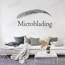 Microblading Letters Quotes Eyebrow Wall Stickers For Beauty Salon Shop Wallpaper Decals Vinyl Waterproof Decor Poster Ta296 Wall Stickers Aliexpress