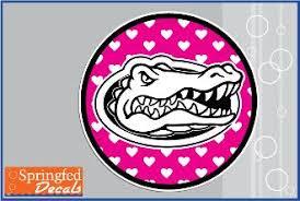 Gator Head Heart Circle Vinyl Decal Gator Mania