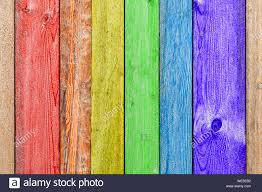 Close Up Of A Rainbow Wooden Wall Or Fence Painted A Very Long Time And The Paint Peeled Off Fun Background For Kids Decor And Design Stock Photo Alamy
