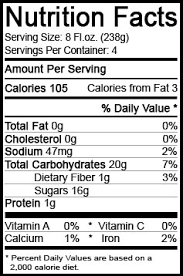 pringles nutrition facts label best