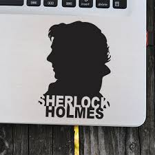 Detective Novel Character Wall Stickers Sherlock Holmes Silhouette Vinyl Laptop Decal 221b Baker Street Vinyl Car Sticker Az600 Wall Stickers Aliexpress