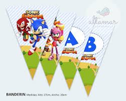 Kit Imprimible Sonic Boom Candy Bar Cumpleanos 274 52 En