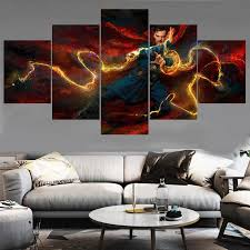 5 Panel Hot Wall Art Pictures Home Decor Doctor Strange Canvas Painting Calligraphy Living Room Hd Printed Movie Poster Painting Calligraphy Aliexpress