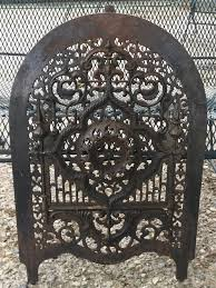 cast iron fireplace summer ornate cover