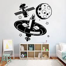 Space Astronaut Wall Sticker Vinyl Decal Moon Planet Universe Teenagers Cool Decor Wall Decals For Boys Room Decoration Owl Wall Decals Owl Wall Stickers From Joystickers 12 66 Dhgate Com