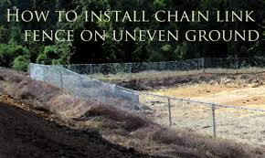 How To Install Chain Link Fence On Uneven Ground