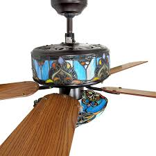 ceiling fans with stained glass