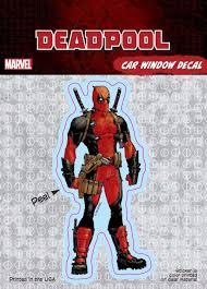 Deadpool Standard Decal Marvel Comics Car Window Decal