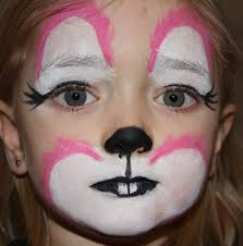 bunny face paintings