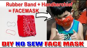 DIY No Sew Face Mask Made of ...