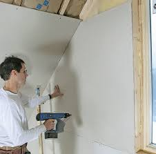 how to hang drywall on a gable end