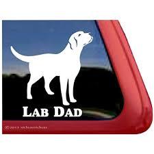 Amazon Com Lab Dad Labrador Retriever Dog Vinyl Window Decal Window Decal Sticker Automotive