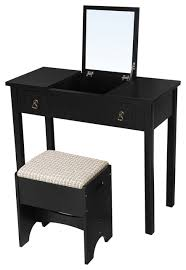 vasagle vanity set with flip top mirror