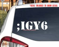 Igy6 Decal Etsy